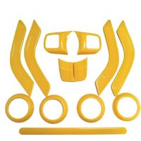 12x Car Interior Accessories Decoration Trim Kit For Jeep Wrangler 4 Door Yellow