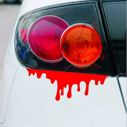 1 X Reflective Warning Car Stickers Blood Bleeding Decals Car Decor HI