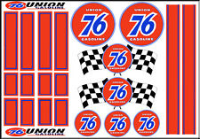 1:64 SCALE HOT WHEELS RACING STRIPES UNION 76 RACING WATERSLIDE DECALS