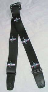 Ford-Mustang-Guitar-Strap-with-leather-ends-classic-Mustang-logo-great-gift