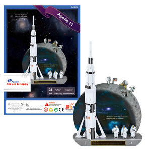 Apollo-11-Shuttle-3D-Puzzle-Rompecabezas-Modelo-Nasa-Espacio-Regalo-De-Cumpleanos