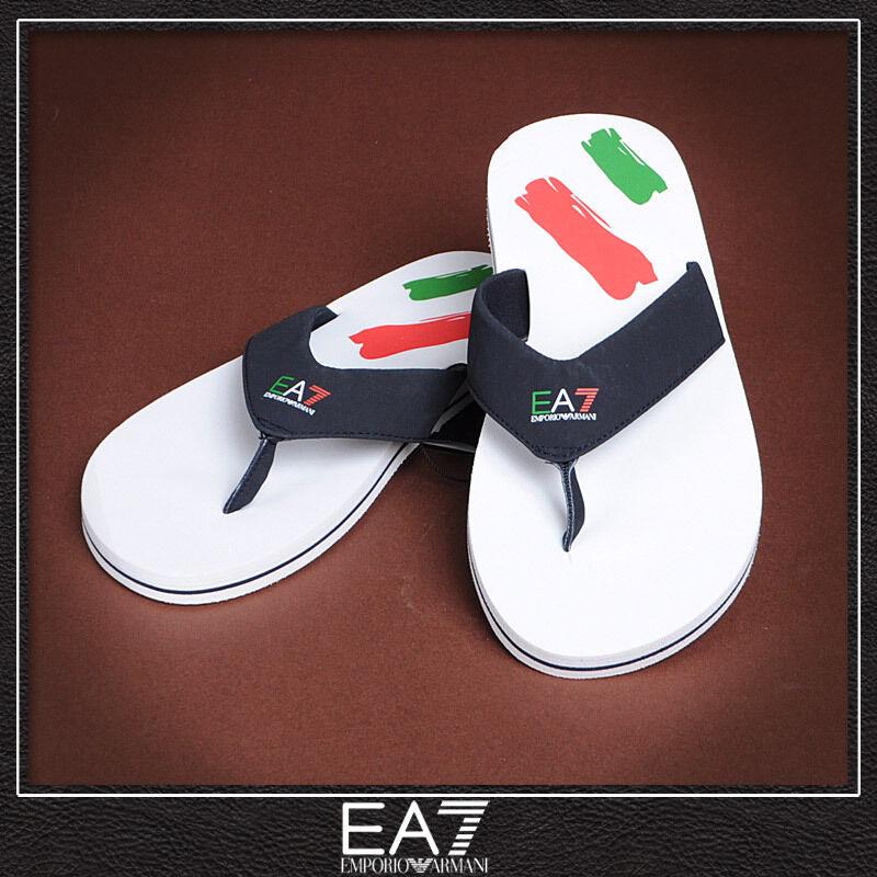 New Emporio Armani EA7 Unisex Designer Flip Flops / Sandals / Beach - Italy
