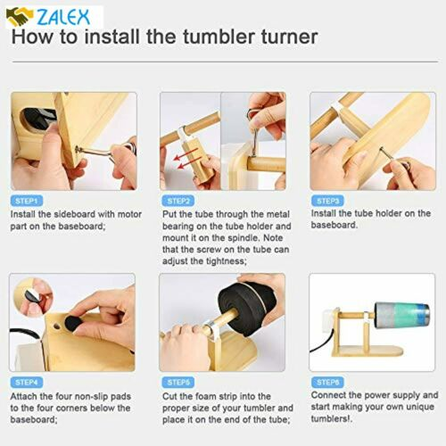 12 P Sntieecr Tumbler Turner Kits with Cup Spinner Heat Gun Bubble Buster Tool