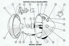NEW TRIUMPH BSA NORTON AJS MOTORCYCLE HEADLAMP HARNESS