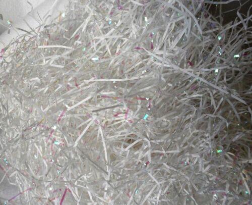 Gift Basket Shred Grass White /& Iridescent Fine Shred NEW 3 oz