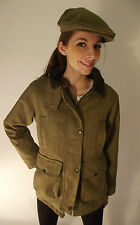 Neuf Pour Femmes Pays Sport Chasse Derbies En Tweed Veste Mode Vert Bleu  Femmes dae624c9b9ea