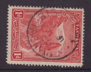 Tasmania-BISMARK-postmark-type-1-on-1d-pictorial-rated-R-8-by-Hardinge