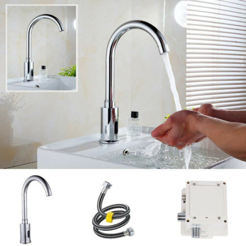 Hand Free Tap Sink Kitchen Electronic Automatic Bathroom Sensor Touchless Faucet