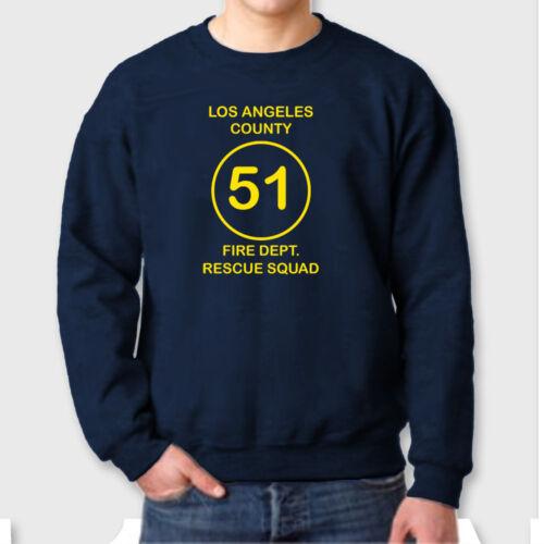 Los Angeles County SQUAD 51 T-shirt FIRE DEPT Rescue Squad Crew Neck Sweatshirt