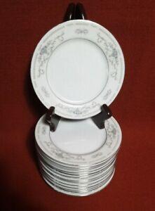 14-Porcelain-Fine-China-Diane-Japan-Bread-or-Dessert-Plates-6-3-8-034