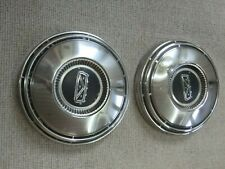 Hubcaps Pair 2 1960s 1970s Ford Galaxie Fairlane Mustang 10 12 Dog Dish