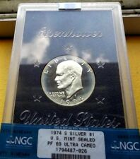 1974-S $1 Silver DC (Proof) Ike Dollar