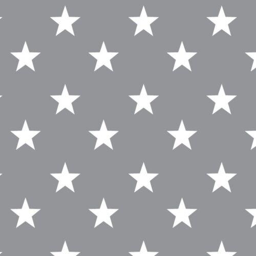 Gris Rayas Vichy Lunares Estrellas 100/% Tela de Algodón Cuarto Del Bebé