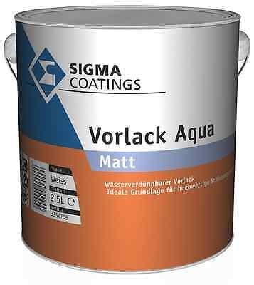 Genial 4x Sigma Vorlack Aqua Weiß 1 Liter Sehr Gutes Deckvermögen Heimwerker