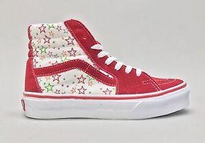 95759d5a2de Vans Women s Sk8 Hi Star Spangly Print Chilli Red Women s Sizes ...