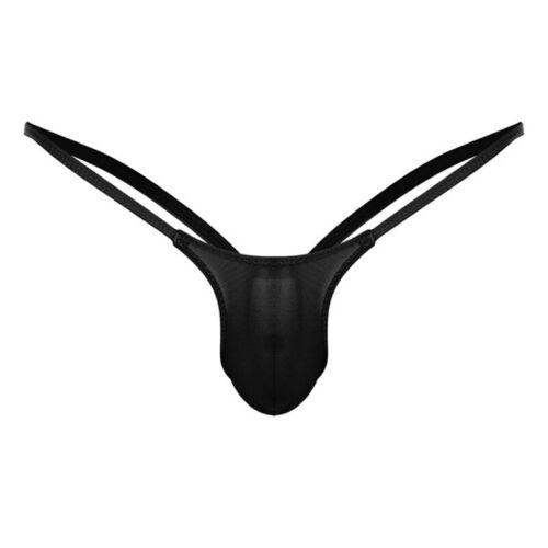 Men Underwear Briefs G-Strings Underwear Solid Briefs Breathable Tanga
