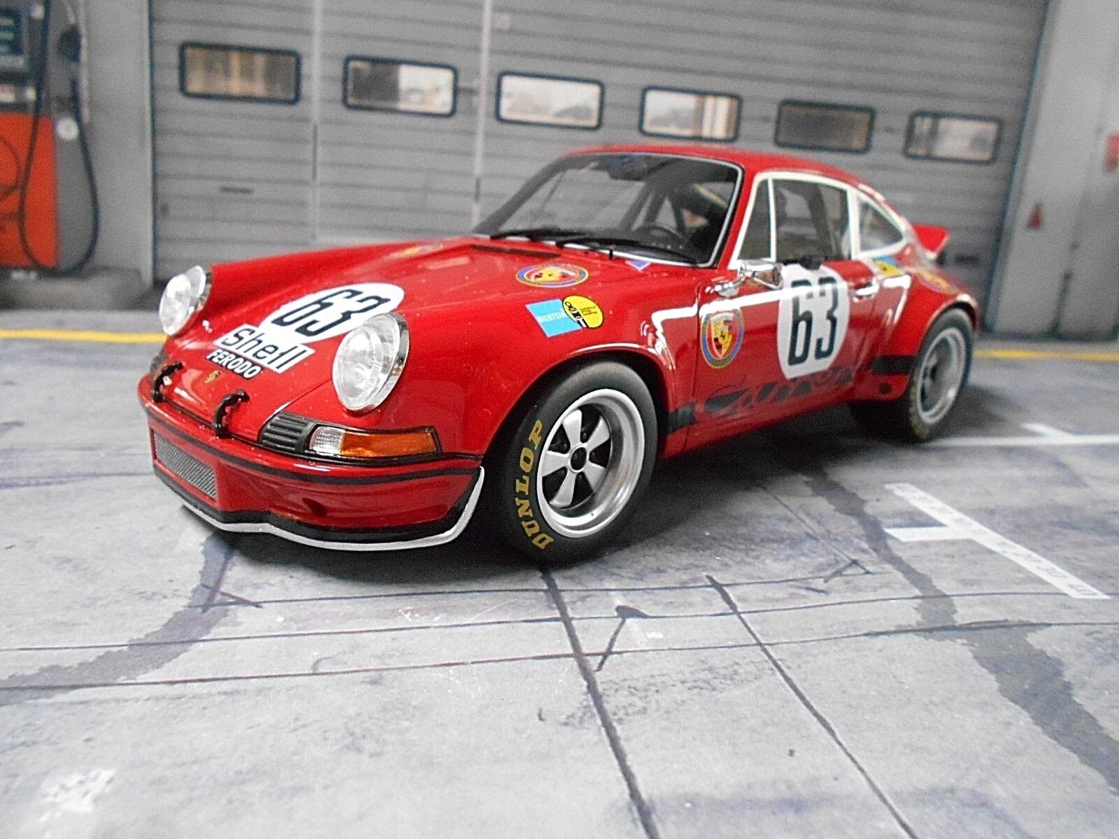 PORSCHE 911 RS 2.8 Racing Le Mans  63 Loos Barth 1973 1 504 GT SPIRIT 1 18