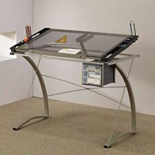 Home Office Handy Drafting Artist Computer Drawing Working Table Desk Chrome NEW