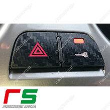 LibéRal Adesivi Alfa Romeo Mito Tasto Hazard 4 Frecce Decal Cover Sticker Carbonlook 4d