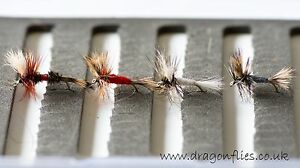 WHITE WULFF Dry Trout /& Grayling fly Fishing flies by Dragonflies