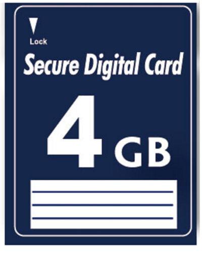4 GB Secure Digital SD Karte High Speed kein SDHC für Kamera Sony DSC-HX 80