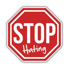 STOP HATING sticker 85mm x 85mm ratlook hotrod vw jdm euro