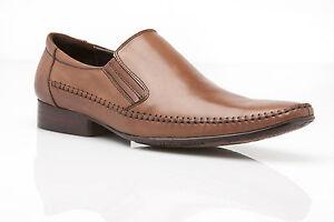 NEW-MENS-AUSTRALIAN-DESIGN-DRESS-COFFEE-BROWN-DRESS-WORK-LEATHER-SLIP-ON-SHOES
