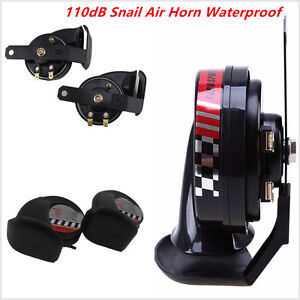 2Pcs-Car-ATV-Motorcycle-Compact-Loud-12V-510Hz-110dB-Snail-Air-Horns-Waterproof