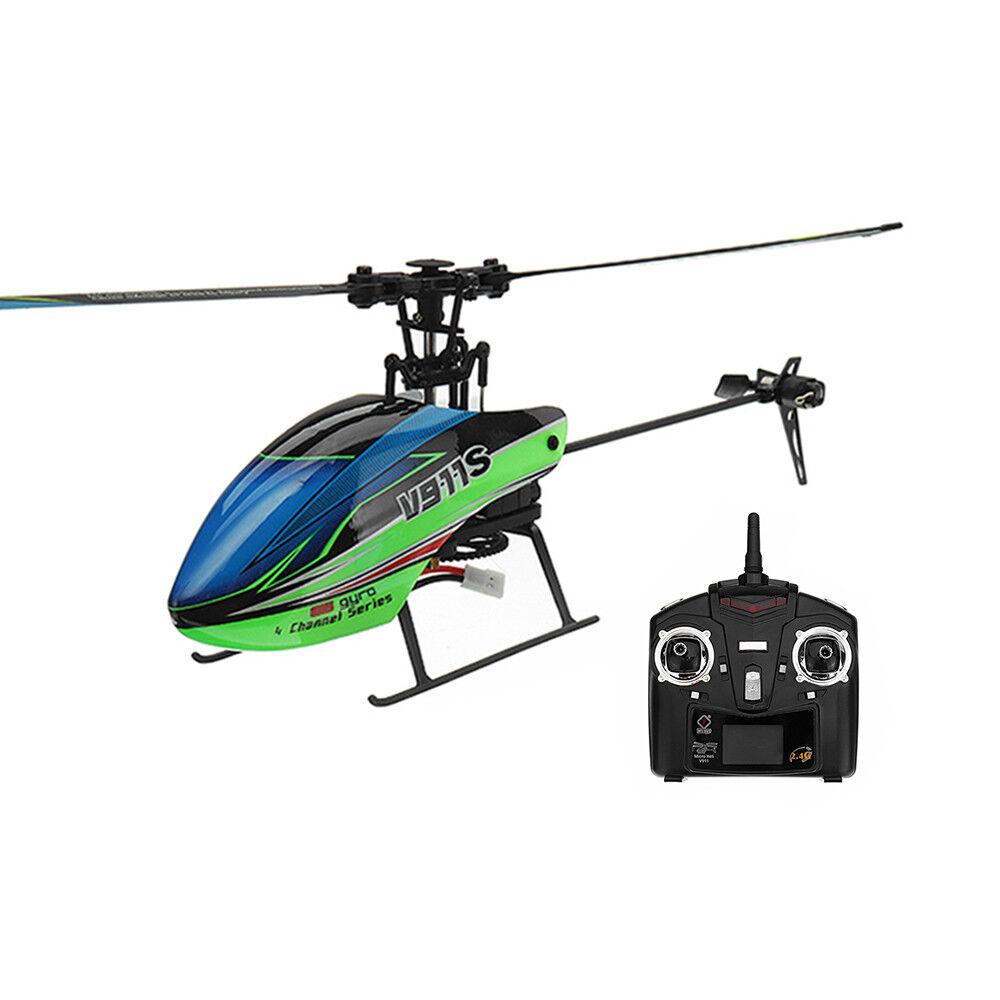 Wltoys v911s 2.4g 4ch 6-aixs flybarless rc helikopter rtf -