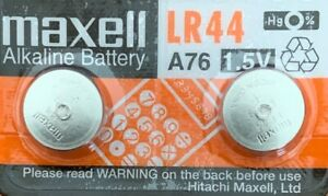 Maxell-A76-LR44-AG13-L1154-G13-V13GA-Package-of-2-Batteries-Authorized-Seller