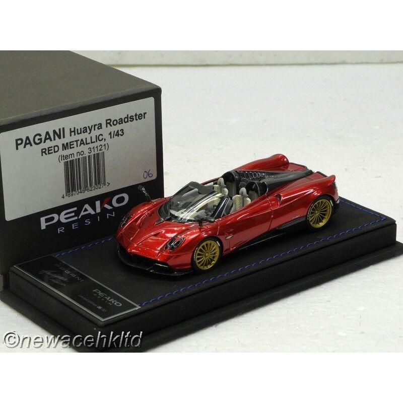 PAGANI HUAYRA ROADSTER RED METALLIC PEAKO MODEL 1 43