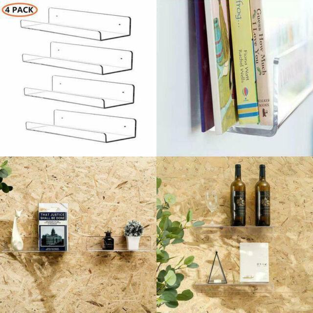2 Clear Floating Shelves Acrylic