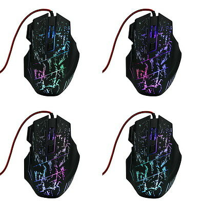 5500 DPI Mouse 7 LED buttons Wired USB Optical Gameing Mouse for Pro Gamer  GU