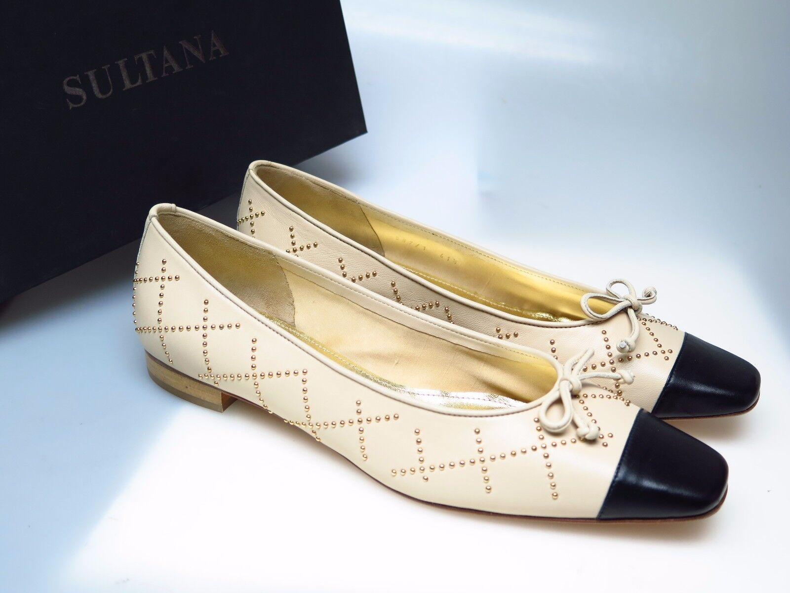 SULTANA SULTANA SULTANA Schuhe Designer Damenschuhe N4346 Tati Nappa Beige Simona Gr. 41,5 NEU d8b9db
