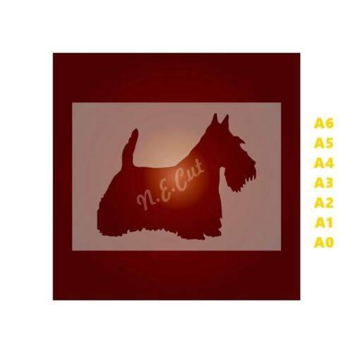 SCOTTISH TERRIER Dog Stencil-Strong 350 micron Mylar not Hobby stuff #DOGS003