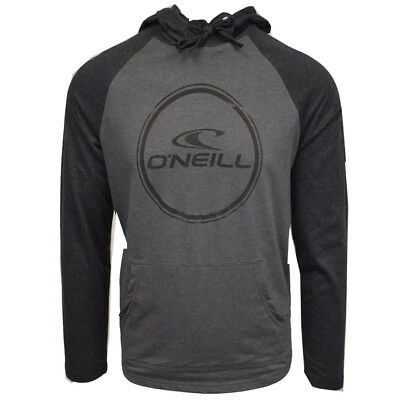 O'Neill Men's Weddle Light Weight Black/Grey L/S Pull Over Hoodie (Retail $50)