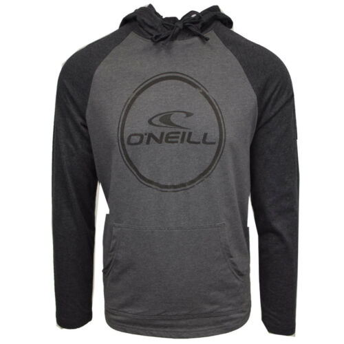 O/'Neill Men/'s Weddle Light Weight Black//Grey L//S Pull Over Hoodie Retail $50
