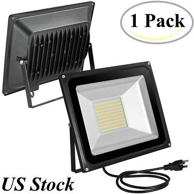 Viugreum 100Watt LED Flood Light Cool White Indoor Outdoor Spot Farm Fixtures