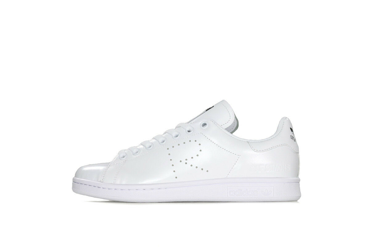 100% Authentic Adidas x Raf Simons Stan Smith White Core Black Men's S81167 7-8