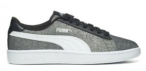 Dettagli su PUMA SMASH V2 GLITZ GLAM JR scarpe donna sportive smith sneakers pelle glitter