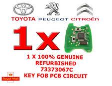 1 X PEUGEOT CITROEN REMOTE ALARM KEY FOB CIRCUIT BOARD PCB 73373067D