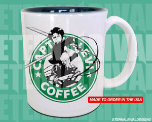 Details About Captain Levi Attack On Titan Starbucks Anime Manga Japanese Insipred Nerd Mug