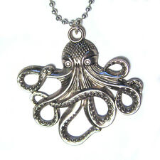 OCTOPUS Silver Plated Pendant Necklace HP Lovecraft Cthulhu steampunk