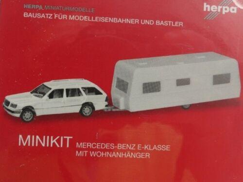 1//87 Herpa MINIKIT MB Classe E T-Modèle avec caravanes 013413