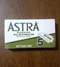 50 ASTRA SUPERIOR PLATINUM DOUBLE EDGE SAFETY RAZOR BLADES (10x5)