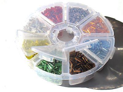 Rocailles Stiftperlen *große Menge= 80g* versch. Farben Röhrchen Glasperlen Tube