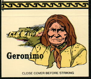 GERONIMO-Apache-Chiricahua-Indian-Chief-Vtg-Native-American-OH-Match-Book-Cover