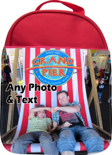 Personalised Your Own photo print Kids School Insulated Gamelle Lunchbag
