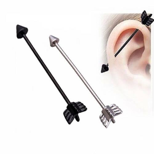 Stainless Steel Arrow Screw Ball Industrial Barbell Cartilage Earring Piercing