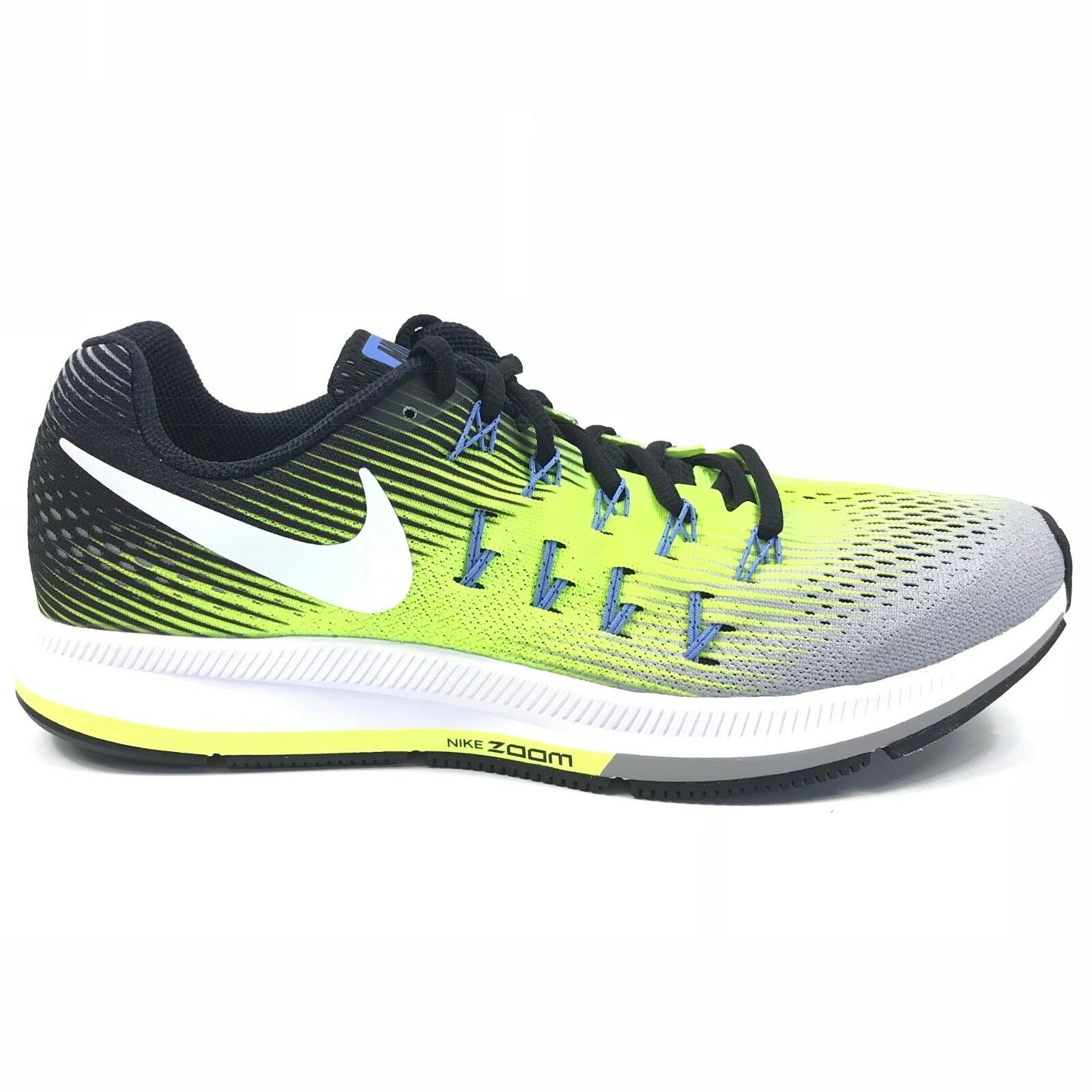 NEW Nike Mens Air Zoom Pegasus 33 Athletic Running shoes Volt 831352-007 US 9